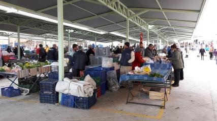 The new look market in Datça, Turkey